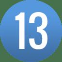 number-circle-13