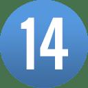 number-circle-14